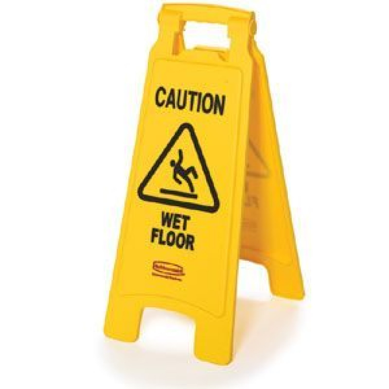 Rubbermaid Yellow Caution Wet Floor Sign