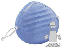 Safety Zone Blue Cone Medical Face Masks Case
