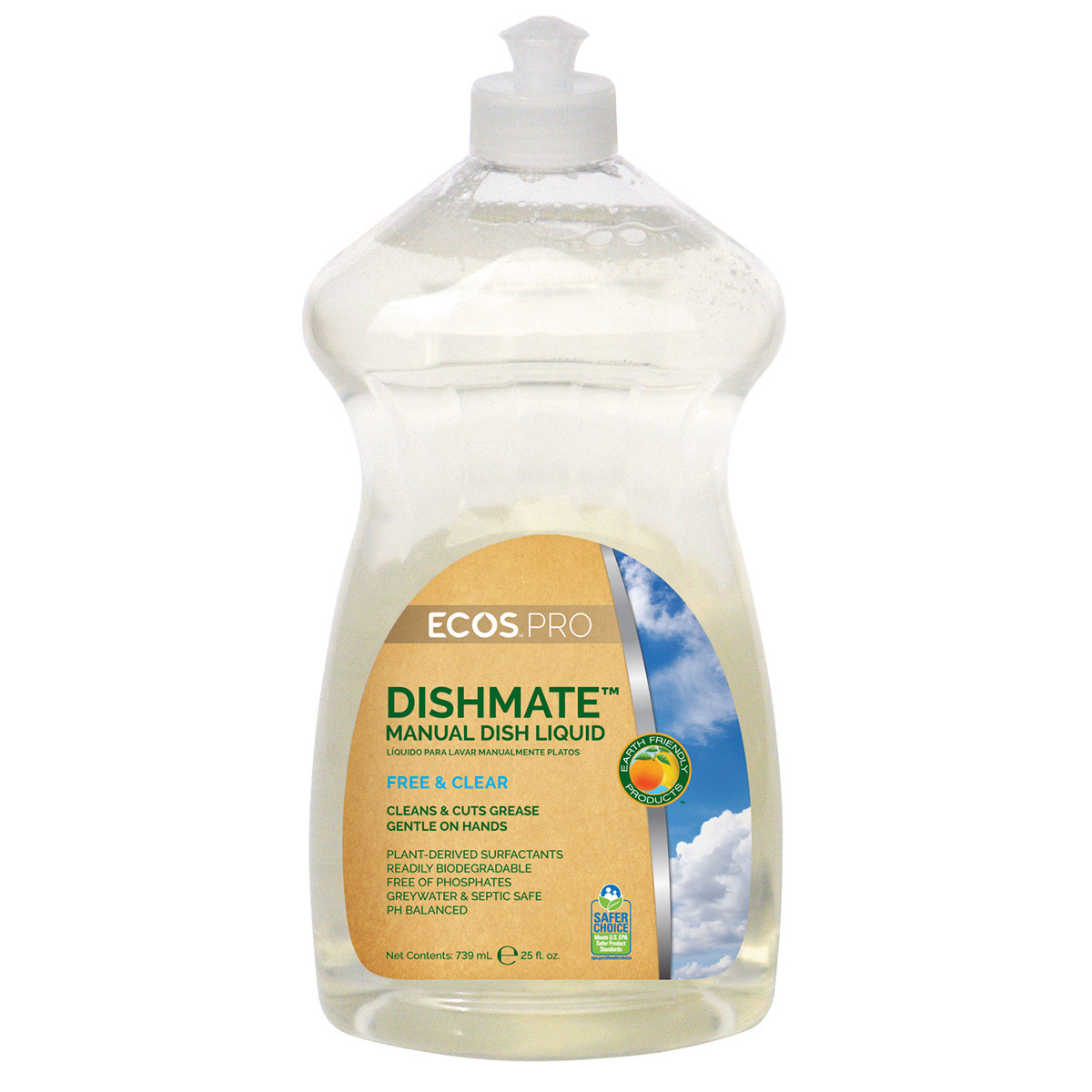 Earth Friendly Products Ecos Pro Dishmate Free Amp Clear Dish Washing Soap