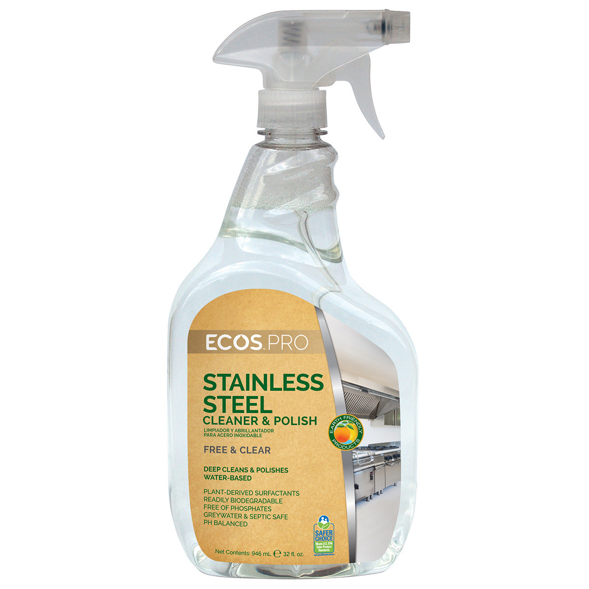 Ecos Pro Water Based Stainless Steel Cleaner Amp Polish