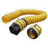 """Xpower® 16"""" Yellow Expandable Polyester Ducting for X-47ATR & X-48ATR Axial Fans (15' & 25' Options Available)"""