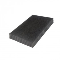 12 inch Cleanfreak Titan Black Extreme Stripping Pads - Case of 5