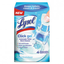 Click Gel Automatic Toilet Bowl Cleaner, Ocean Fresh, 0.16 Oz, 4/box