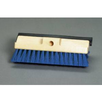 "10"" Deck Scrub Brush with Blue Bristles & Squeegee"
