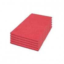 14 x 28 inch Red Rectangular Buffing Pads