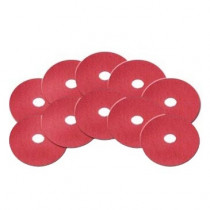 6-1/2 inch Red Baseboard Buffing Pads
