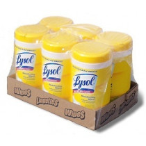 Case of Lysol Disinfectant Wipes - Lemon Scent
