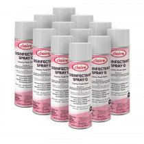 Claire® Mutli-Purpose Disinfectant Spray Q - Case of 12 Aerosol Cans