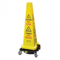 Hurricone Battery Powered Floor Drying Yellow Wet Floor Safety Cone