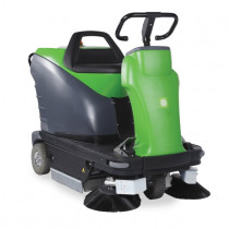 Battery Powered Rider Warehouse Sweeper