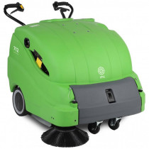 Battery Powered Gas Station Sweeper