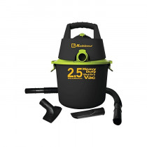 Koblenz® 2.5 Gallon Wet/Dry Vacuum w/ Hose, Crevice & Pickup Tools