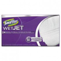 WetJet System Refill Cloths, 14 inch x 3 inch, White, 24/Box
