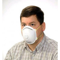 Safety Zone® N95 NIOSH Particulate Dust Mask & Valve (#RS-920-EV-N95) - Box of 10