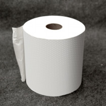 White Restroom Roll Towels