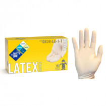 Safety Zone® White Disposable 5.0 Mil Powdered Latex Gloves (S - XL Sizes Available) - Pack of 100