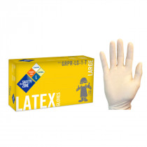 Safety Zone® #GRPR Disposable 5 Mil White Latex Powder-Free Gloves (S - 2X Sizes Available)