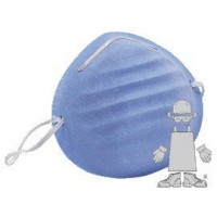 Safety Zone® Blue Cone Medical Face Masks (#RS-500) - Case of 1000