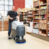 "Advance® SC401™ Compact 17"" Automatic Floor Scrubber - In Use at Store"