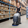 "Advance® SC401™ Compact 17"" Automatic Floor Scrubber - In Use at Warehouse"