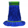 """MaxiClean® Cotton & Synthetic Blend Blue Wet Mop w/ 5"""" Wide Band (Size: Medium) - Looped End"""