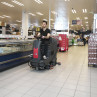 """Viper AS850R 32"""" Rider Automatic Floor Scrubber In Use"""